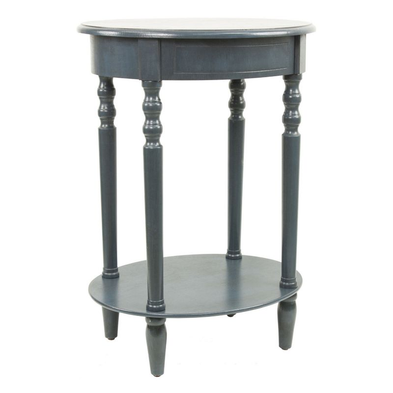 Decor Therapy Simplify Oval End Table, Blue