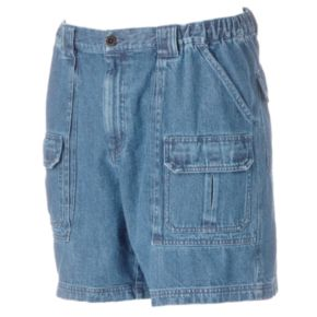Men's Croft & Barrow® Denim Side Elastic Cargo Shorts