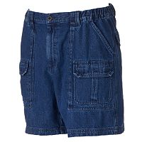Men's Croft & Barrow® Denim Side Elastic Cargo Shorts