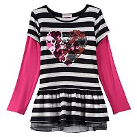 Design 365 Stripe Mock-Layer Tunic - Toddler Girl