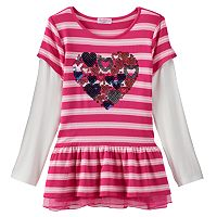 Design 365 Stripe Mock-Layer Tunic - Toddler Girl