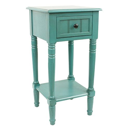 Decor Therapy 1-Drawer Simplify Square End Table