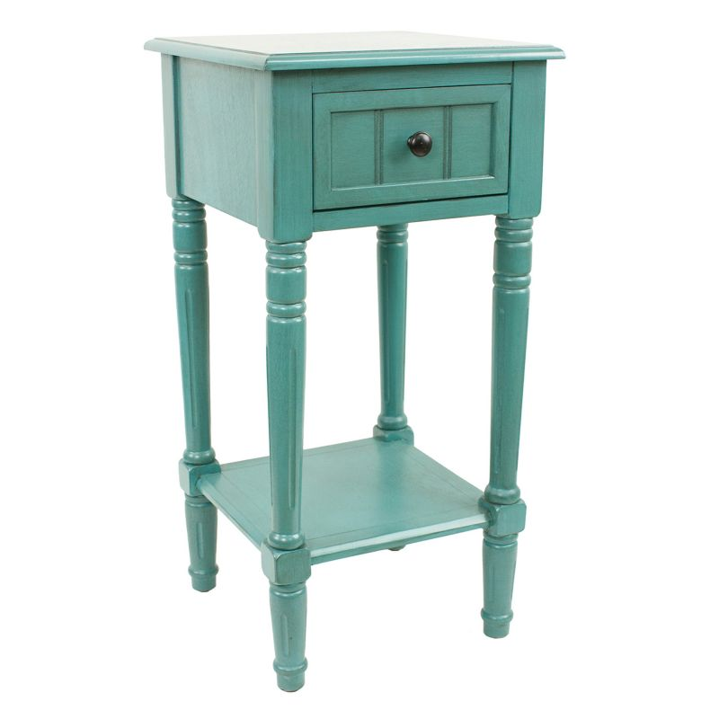 Decor Therapy 1-Drawer Simplify Square End Table, Blue