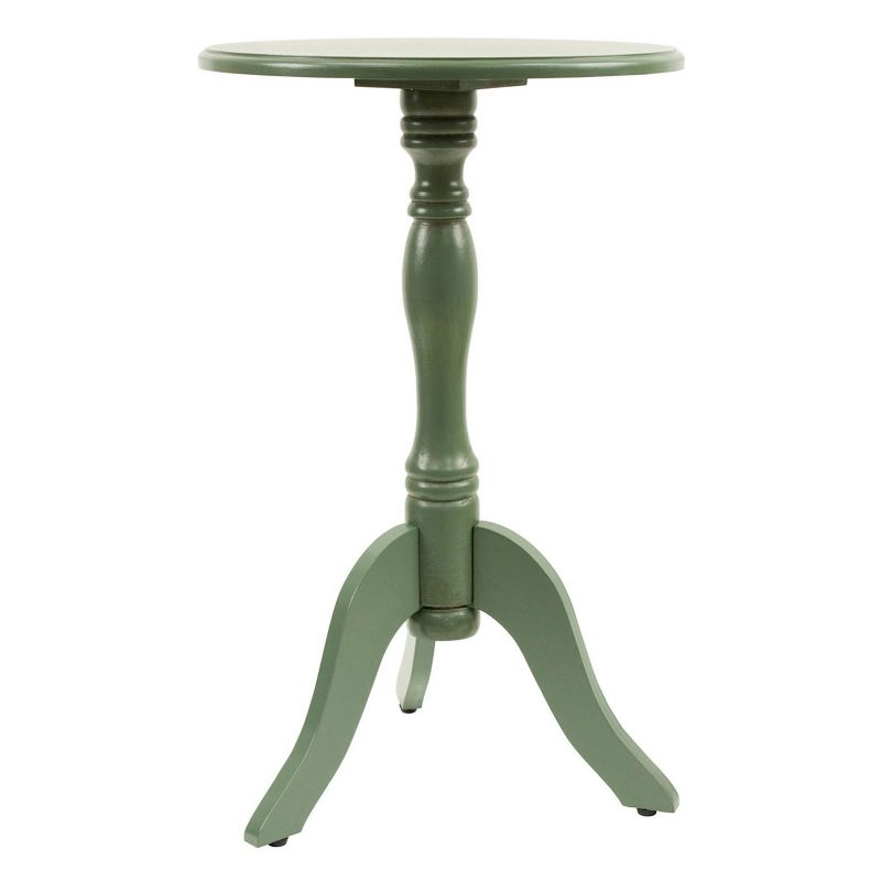 Decor Therapy Simplify Pedestal End Table, Green