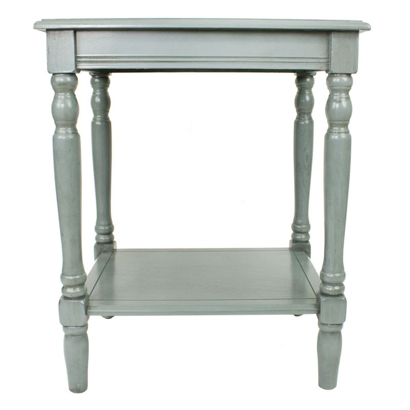 Decor Therapy Simplify Carved Leg End Table, Blue