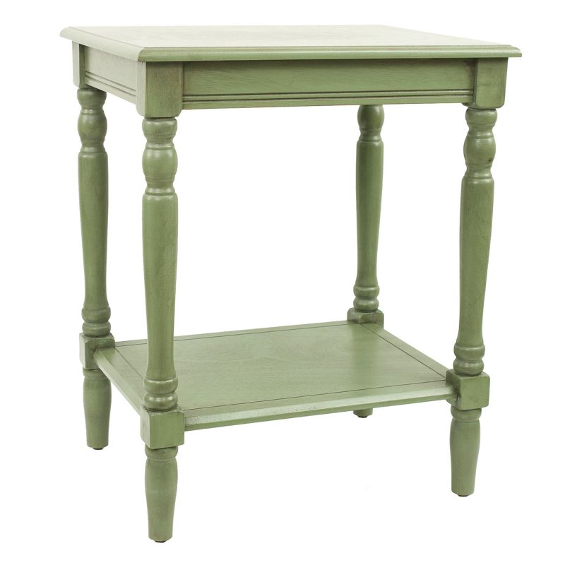 Decor Therapy Simplify Carved Leg End Table, Green
