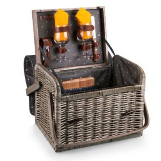 Picnic Time Kabrio Service for Two Wine & Cheese Basket Set