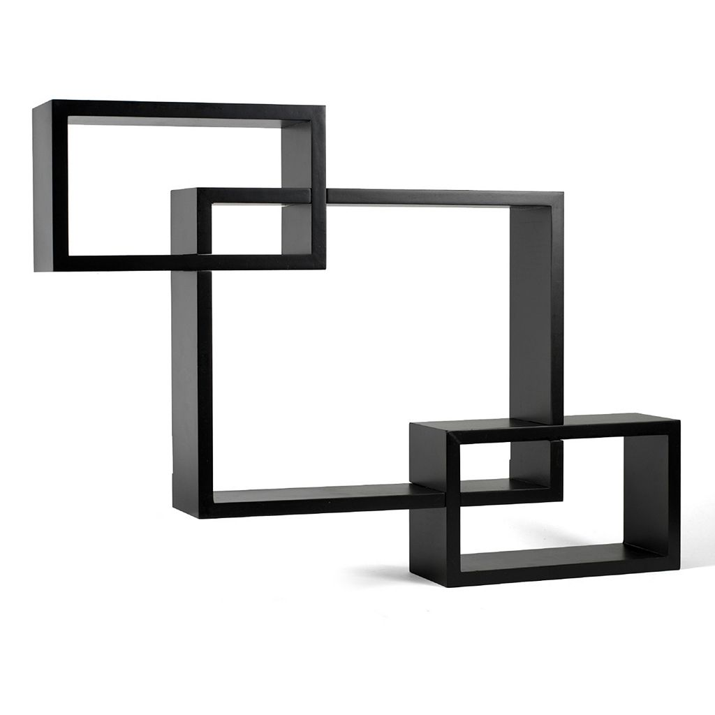 Melannco 3-piece Interlocking Wall Shelves Set