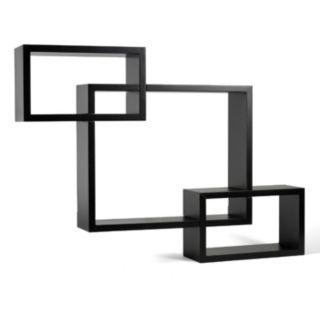 Melannco 3-piece Interlocking Wall Shelves Set