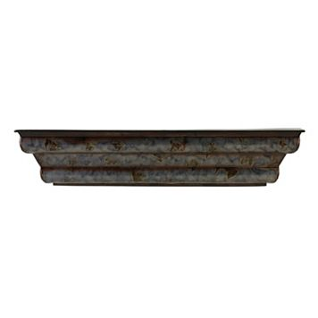 Melannco Shimmer Metal Wall Shelf