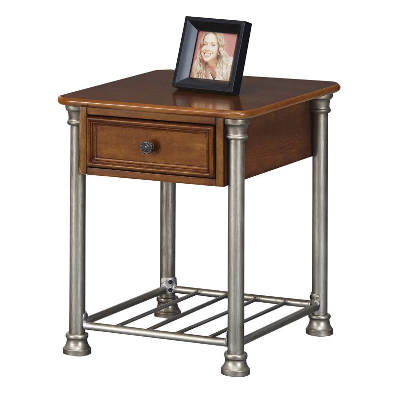 Home Styles The Orleans End Table, Brown