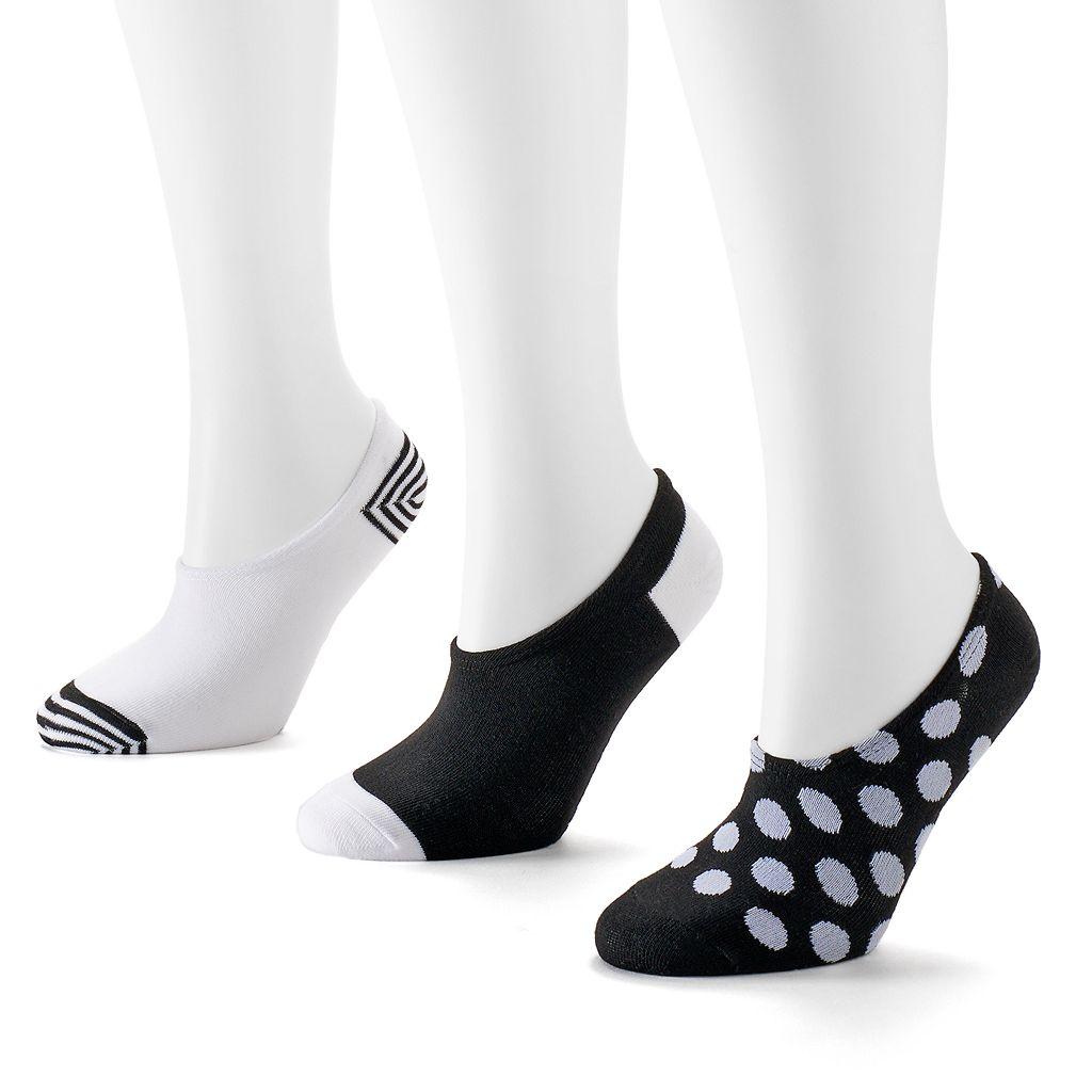 Converse Made For Chucks 3-pk. Dots No-Show Socks - Women