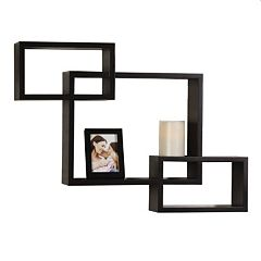 Melannco 3 pc Interlocking Wall Cubes & Frame Set