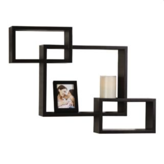 Melannco 3-piece Interlocking Wall Cubes & Frame Set
