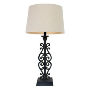 Decor Therapy Scroll Table Lamp