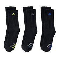 Boys adidas 3-pk. ClimaLite Extra-Durable Crew Socks