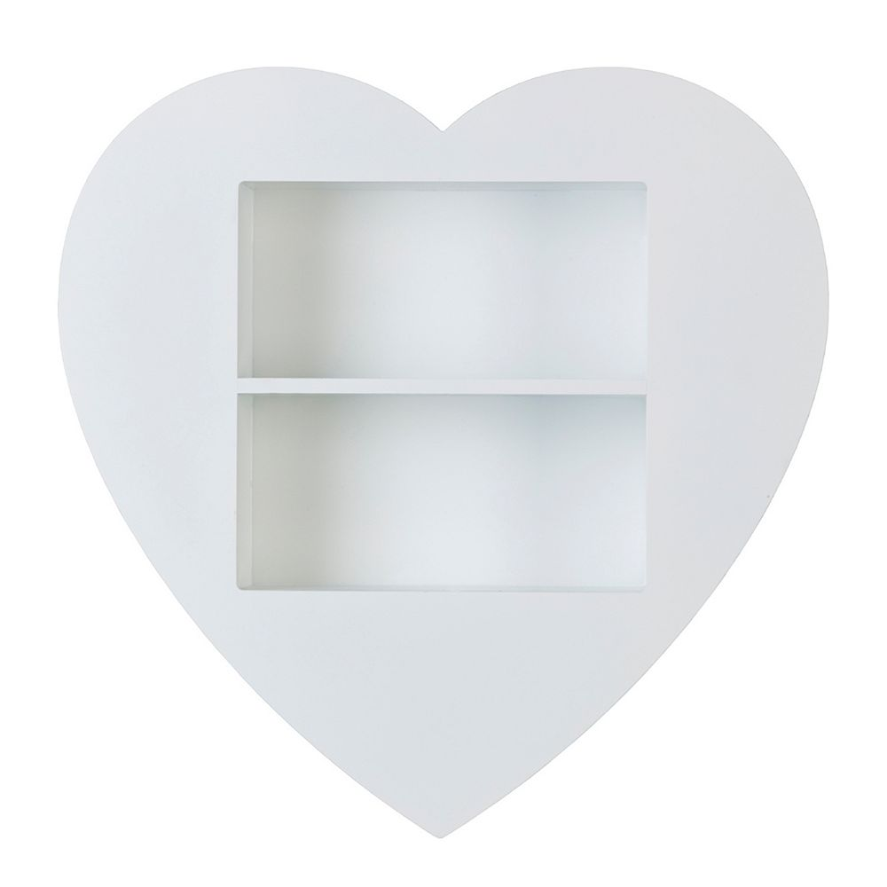 Melannco Heart Wall Shelf