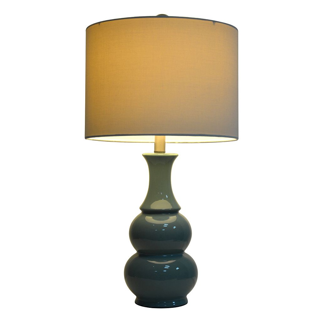 Decor Therapy Green Ceramic Table Lamp