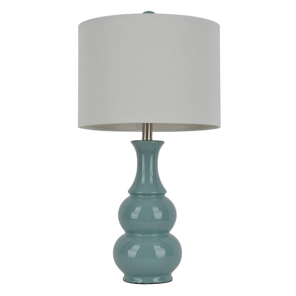 Decor Therapy Green Ceramic Table Lamp