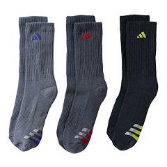 Boys 8-20 adidas 3 pkClimaLite Crew Socks