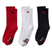 Boys 8-20 adidas 3-pk. ClimaLite Compression Crew Socks