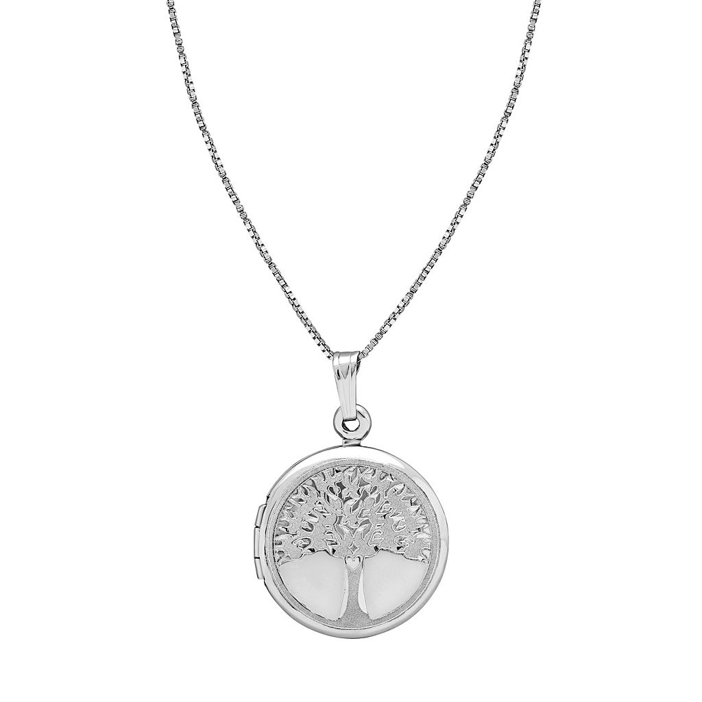 Treasured Moments Sterling Silver Family Tree Locket