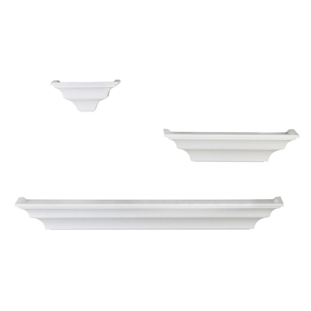 Melannco 3-Piece Wall Shelf Set