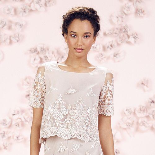 LC Lauren Conrad Runway Collection Embroidered Popover Top - Women's