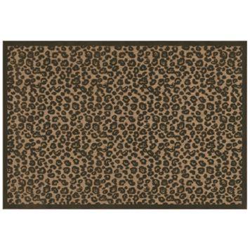 Couristan Captivity Leopard Indoor Outdoor Rug