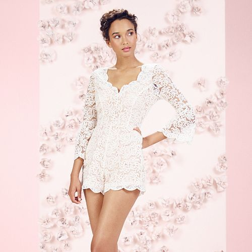 45cf1135be5 LC Lauren Conrad Runway Collection Open-Back Lace Romper ...