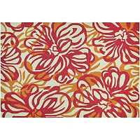 Couristan Covington Hibiscus Floral Indoor Outdoor Rug