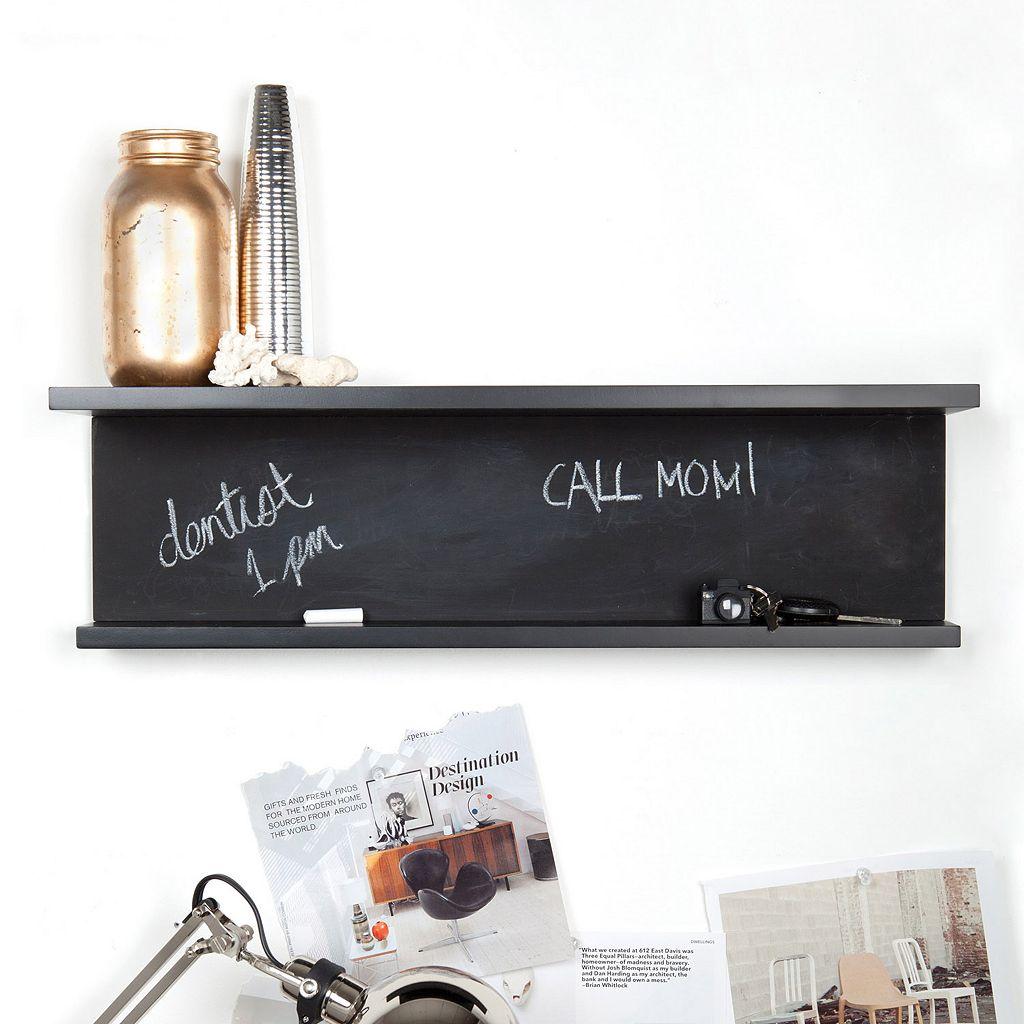 nexxt Noto Tiered Chalkboard Wall Shelf