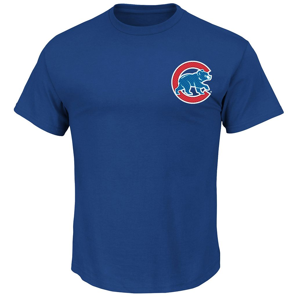 Big & Tall Majestic Chicago Cubs Kris Bryant Player Name and Number Tee