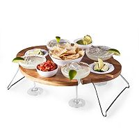 Picnic Time Legacy 8 pc Margarita Chip & Dip Serving Table Set