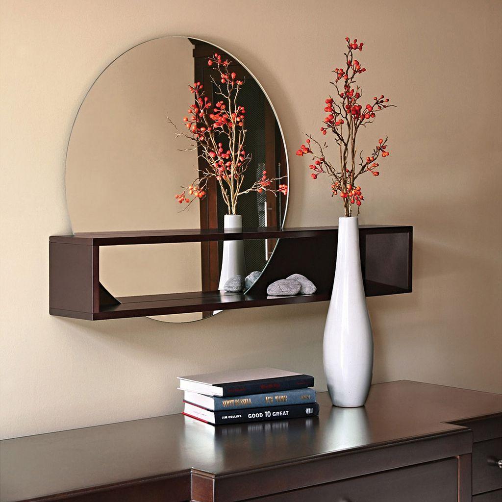 nexxt Tate Mirror & Wall Shelf