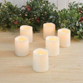 LumaBase 6-piece LED Flameless Mini Pillar Candle Set