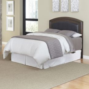 Home Styles Crescent Hill King Leather Headboard