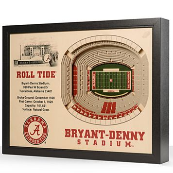 Alabama Crimson Tide StadiumViews 3D Wall Art