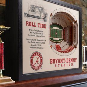 Alabama Crimson Tide StadiumViews 3D Wall Art