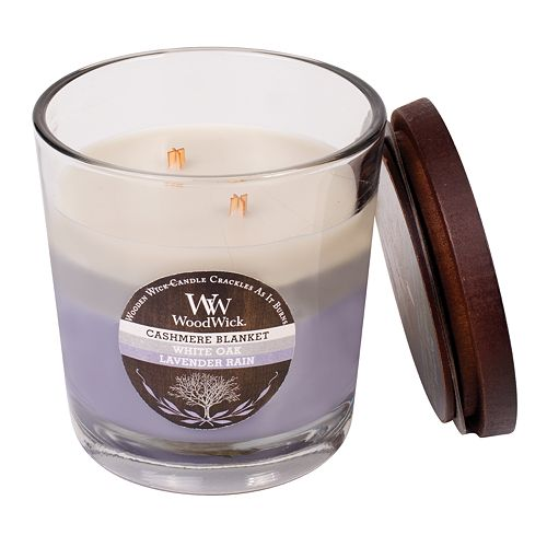 WoodWick Tri-Tone Cashmere Blanket 17.2-oz. Jar Candle