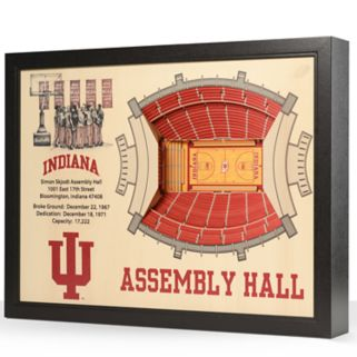 Indiana Hoosiers StadiumViews 3D Wall Art