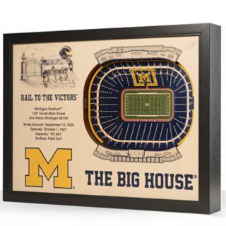 Michigan Wolverines StadiumViews 3D Wall Art