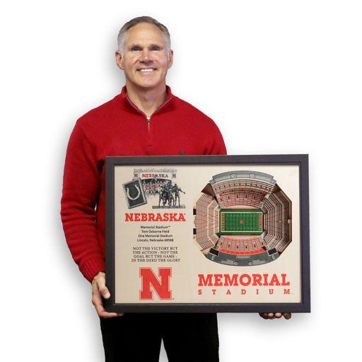 Nebraska Cornhuskers StadiumViews 3D Wall Art