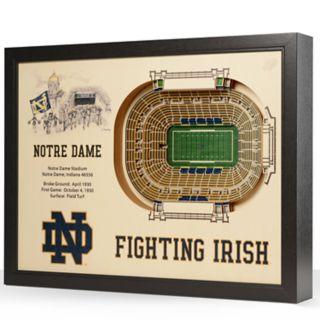 Notre Dame Fighting Irish StadiumViews 3D Wall Art