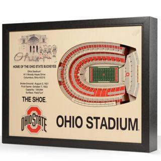 Ohio State Buckeyes StadiumViews 3D Wall Art