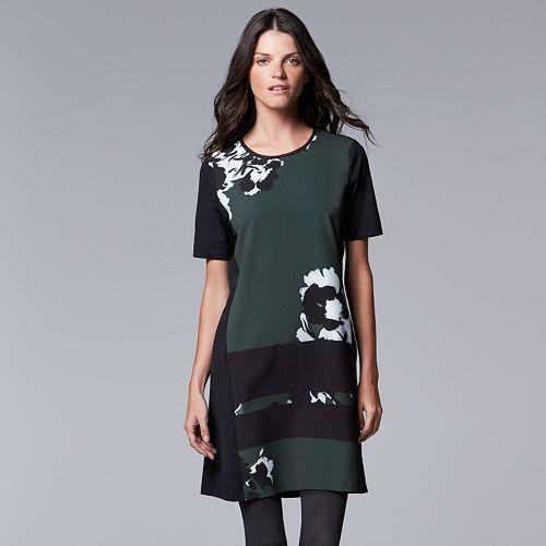 Simply Vera Vera Wang Print Shift Dress - Women's