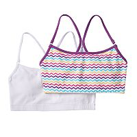 Trimfit 2-pk. Racerback Crop Bras - Girls 6-16
