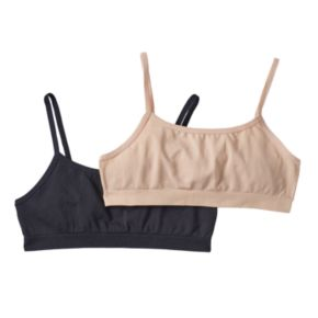 Trimfit 2-pk. Seamless Crop Bras - Girls 6-16
