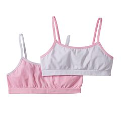 Trimfit 2 pkSeamless Crop Bras - Girls 6-16