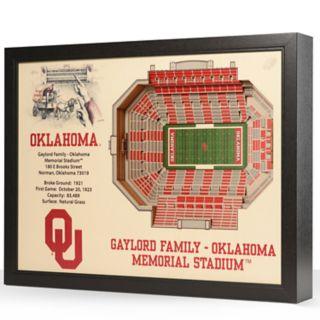 Oklahoma Sooners StadiumViews 3D Wall Art